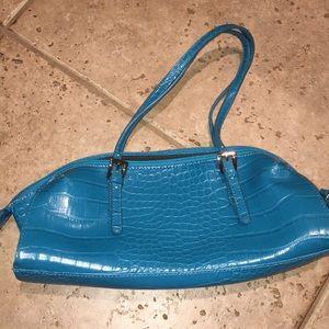 Bisou Bisou Teal Blue Python Bag